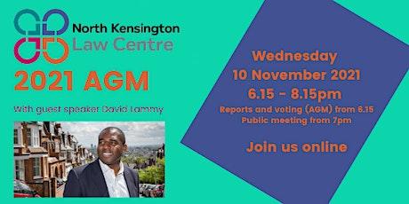North Kensington Law Centre AGM 2021 tickets