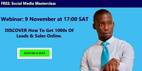 FREE Social Media Masterclass Webinar tickets