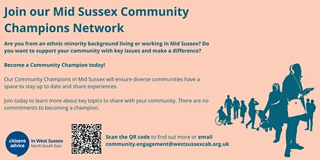 Mid Sussex Community Champions - Drop In tickets