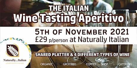 The Italian wine tasting aperitivo tickets