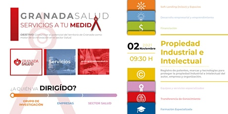 Granada Salud: Servicios a tu Medida. 2º Meetup: Prop. Industrial e Intelec boletos