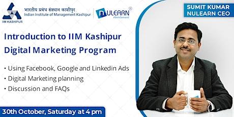 Introduction to IIM Kashipur Digital Marketing program tickets