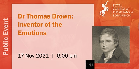 Dr Thomas Brown: Inventor of the Emotions tickets