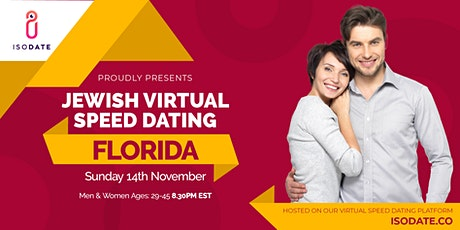 Isodate's Florida Jewish Virtual Speed Dating - Swipe Less, Date More tickets