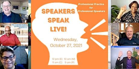 Speakers Speak LIVE! tickets