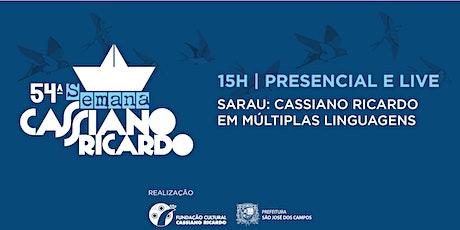 54ª Semana Cassiano Ricardo -  Cassiano Ricardo em Múltiplas Linguagens ingressos