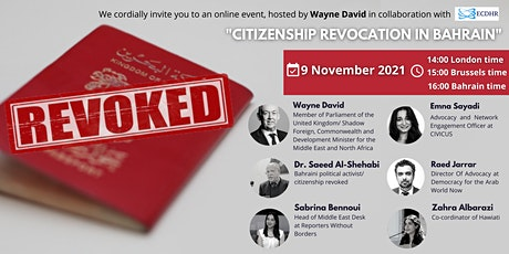 Citizenship Revocation in Bahrain tickets