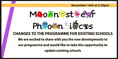 Monster Phonics - Changes to the programme for existing schools tickets