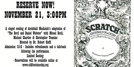 Scratch - A Staged Reading from Archibald MacLeish tickets