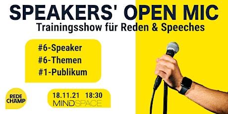 Speakers' Open Mic Tickets