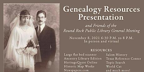 Genealogy A-Go-Go: Friends General Meeting tickets