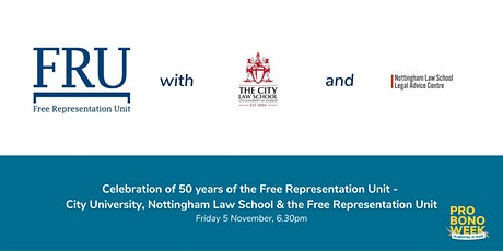 50 years of the FRU - pro bono and clinical legal education tickets