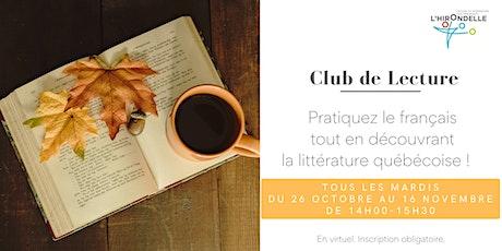Club de lecture en français billets