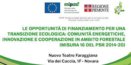 Le opportunità di finanziamento per una transizione ecologica: comunità ene biglietti