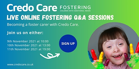 Becoming a Foster Carer - Live Online Q&A Session tickets