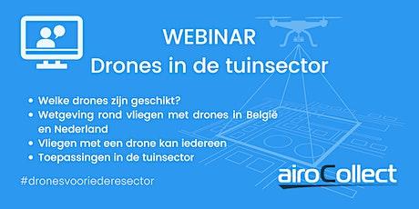 Webinar: drones in de tuinsector tickets