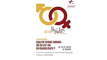 WEBINAIRE GANM - Egalité Femme/Homme, ou en sommes-nous en Guadeloupe ? billets