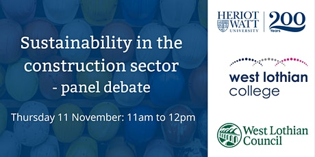 Sustainability in the Construction Sector tickets