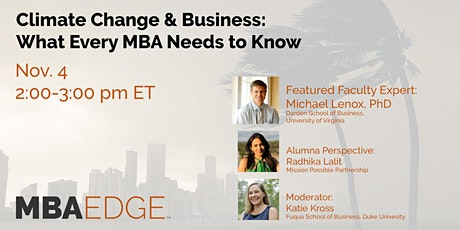 Climate Change & Business: What Every MBA Needs to Know tickets