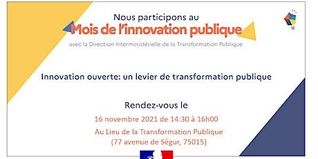Innovation ouverte un levier de transformation publique billets