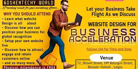 Website Design for Business Acceleration tickets