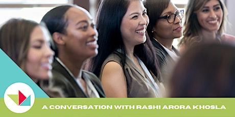 WEW 2021 Conversation on Entrepreneurship with Rashi Arora Khosla tickets