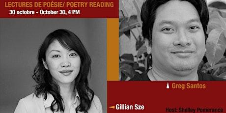 Focus poésie sur Zoom - Poetry Reading Series on Zoom- Gillian Sze & Greg S tickets