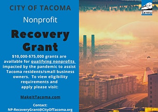 City of Tacoma Nonprofit Recovery Grant Application Workshop tickets