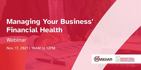 Managing Your Business' Financial Health tickets