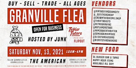 The Granville Flea - OPEN FOR BUSINESS tickets