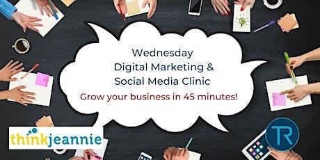 Digital Marketing & Social Media  Clinic tickets