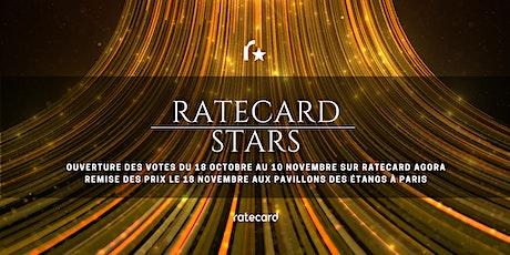 La remise des prix des Ratecard Stars  billets