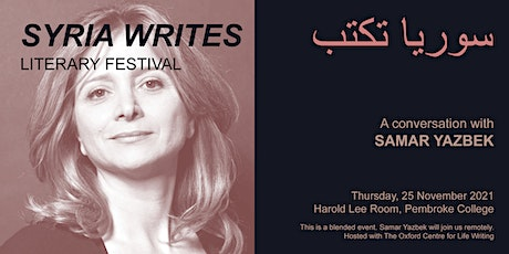Samar Yazbek in conversation with A. Daoudi, A. Souleman and S. Rosita tickets