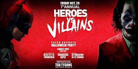 HEROES VS VILLAINS SALSA BACHATA HALLOWEEN PARTY tickets