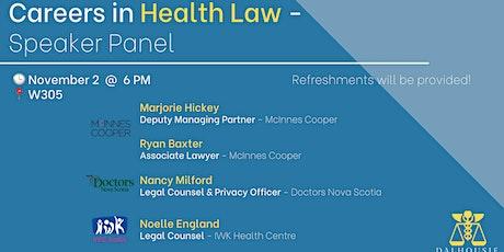 Careers in Health Law - Speaker Panel tickets