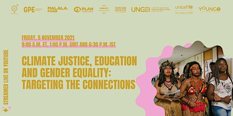 Climate justice, education and gender equality: targeting the connections tickets