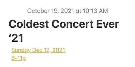 Coldest Concert Ever tickets