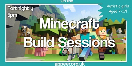 Appeer Girls/Teens Minecraft Build Session - Fortnightly build tickets