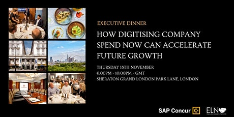 How Digitising Company Spend Can Accelerate Growth - Dinner in Mayfair tickets