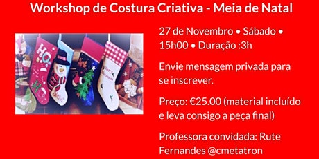 Workshop de Costura Criativa - Meia de Natal bilhetes