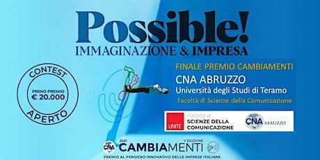 Finale Premio Cambiamenti CNA Abruzzo biglietti