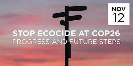 STOP ECOCIDE AT COP26 - PROGRESS AND FUTURE STEPS. tickets