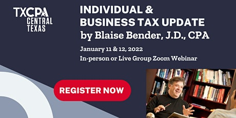 Individual and Business Federal Tax Update with Blaise Bender, J.D., CPA tickets