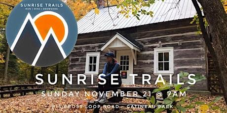 Sunrise Trails : monthly Sunday 7am trail runs (November 2021 edition) tickets