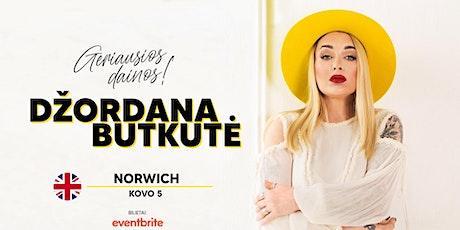 Džordana Butkutė - Geriausios dainos - NORWICH tickets
