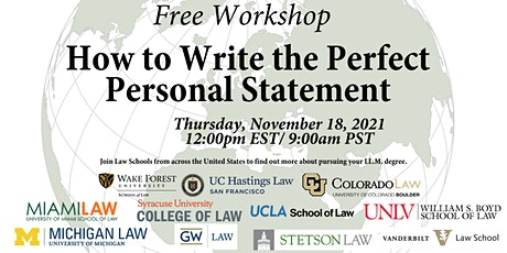 LL.M. Applications:  The Personal Statement tickets