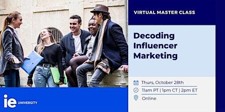 Decoding Influencer Marketing tickets