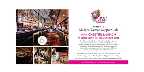 Modern Woman Supper Club Manchester Launch tickets