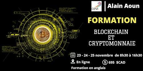 Formation BLOCKCHAIN ET CRYPTOMONNAIE tickets