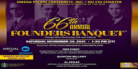 Nu Chi Chapter 66th Anniversary Founders Banquet tickets
